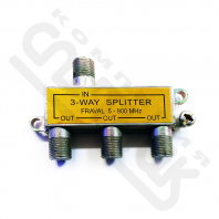 "3 way splitter + 4 ""F""-разъема GOLD"